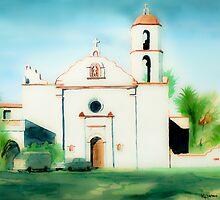 Mission San Luis Rey Dreamy by KipDeVore