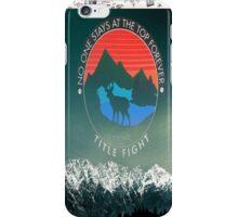 title fight deer  iPhone Case/Skin