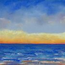 Carlsbad Sunset West (pastel) by Niki Hilsabeck