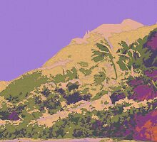 Kauluwela Moku 4 Tropical Island Color Graphic Art by Kenneth Grzesik