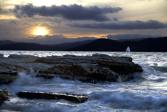 Almost Home - Derwent River, Tasmania by clickedbynic