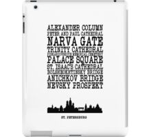 St Petersburg Landmarks iPad Case/Skin