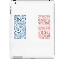 Les Miserables - Do You Hear The People Sing Flag iPad Case/Skin