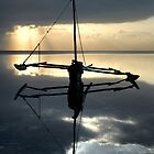 Boat on Indian Ocean Kenya by DerekWells