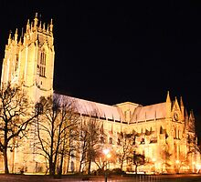 beverley minster floodlit by geoffford