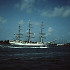 """ Tall Ships In Hamilton harbour Bermuda "" by terryfellows"