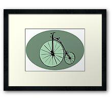 Vintage bike design Framed Print