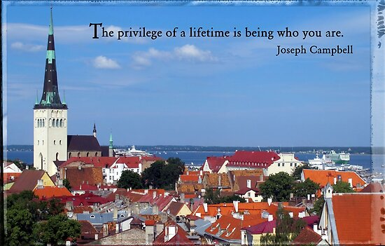 View over 1000 year old capital of Tallinn, Estonia by Susan Wellington
