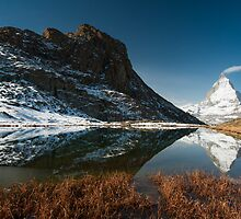 Riffelsee with Matterhorn by peterwey