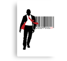 Agent 47 Barcode Canvas Print