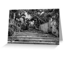Stairs at the end of Queen Street in Nassau, The Bahamas Greeting Card