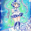 Sailor Mercury Colored Pencil by SaradaBoru