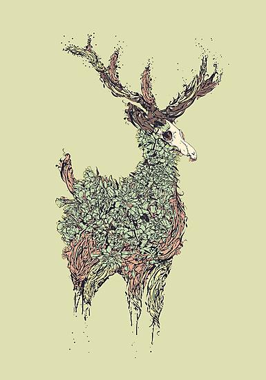 Beautiful Deer Old by Diego Verhagen