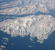 An aerial view of Greenland by Keith Larby