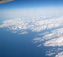 Flying over Greenland by Keith Larby