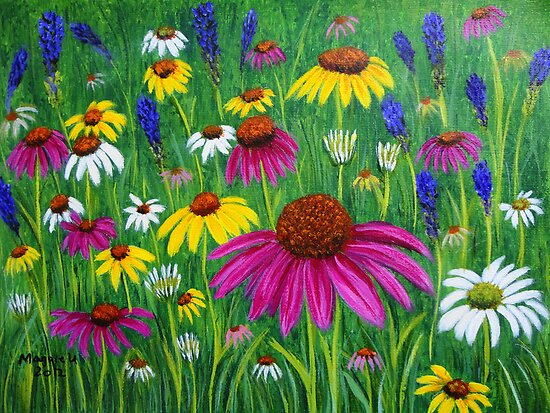 Colorful flowers  by maggie326