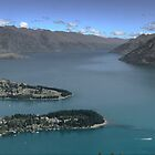 Wakatipu From The Top by Larry Lingard-Davis