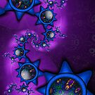 Blue Gem Stars in Purple Galaxy by lacitrouille