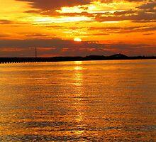 Sunset at Roanoke by Alberto  DeJesus