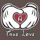 TRUE LOVE - INITIALS - A by mcdba