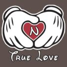 TRUE LOVE - INITIALS - N by mcdba