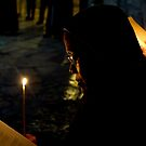 Christmass 2012 - Pilgrim in the Holy Sepulchre in Jerusalem by MichaelBr