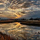 Frontal Clouds At Sunset by JGetsinger