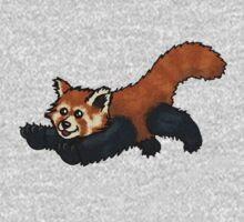 Red Panda leaping by TheRandomFactor