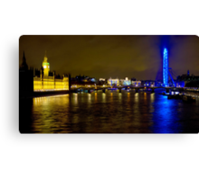 The London Skyline New Years Eve 2012 - HDR Canvas Print