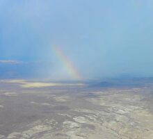 Double rainbow over Lake Mead  by Debra Kurs