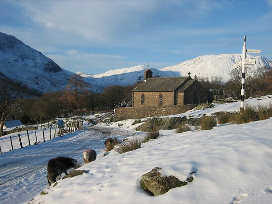 """ St. James' Church Buttermere "" by terryfellows"