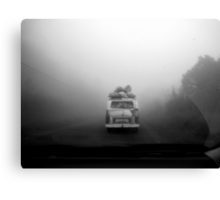 Van in Fog Canvas Print