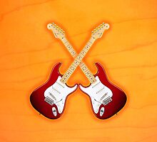 Red american fender Stratocaster v1 art by goodmusic