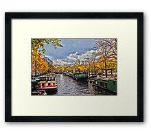Amsterdam Prinsengracht HDR Framed Print