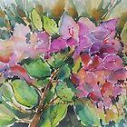 Floral in watercolours by Marilia Martin