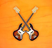 Double fender jazz bass lefty v1 art by goodmusic
