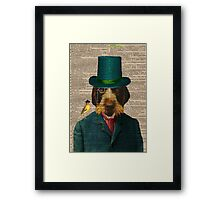 Antique Dictionary Page Wirehaired Griffon Framed Print
