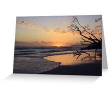 kingscliff beach sunrise ... Greeting Card