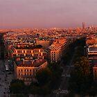 Sunset in Paris by gesto