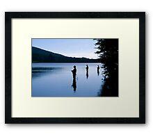 Fishing at Daybreak Framed Print
