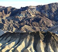 Zabriskie Point Death Valley,Death Valley National Park,California by Anthony & Nancy  Leake