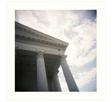 Columns and sky Art Print