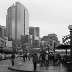 Pike Place (b&w) by zumi