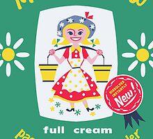 Kaipara Dairy Co-op Meadow Maid Card  by Darian  Zam
