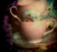 Tea Cups by Karen Lewis
