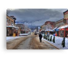 Walk the street Canvas Print