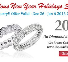 Save 20% on Diamond and Platinum Wedding Bands with New Year Deal from The Wedding Band Company by weddingbands25