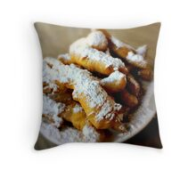 Beignet Fingers from Coffee Call, Baton Rouge, Louisiana Throw Pillow