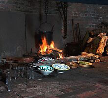 Gainsborough Old Hall-Kitchen fire by jasminewang