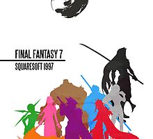 Final Fantasy 7 Minimal Poster by TheDorknight